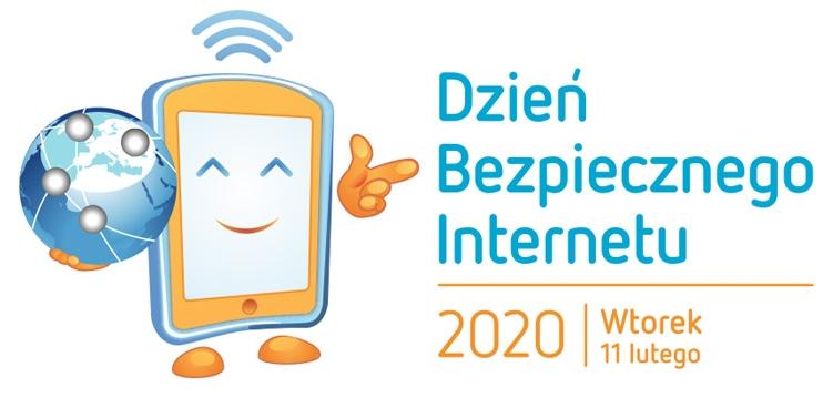 logo z napisem Dzień Bezpiecznego Internetu 2020 wtorek 11 lutego
