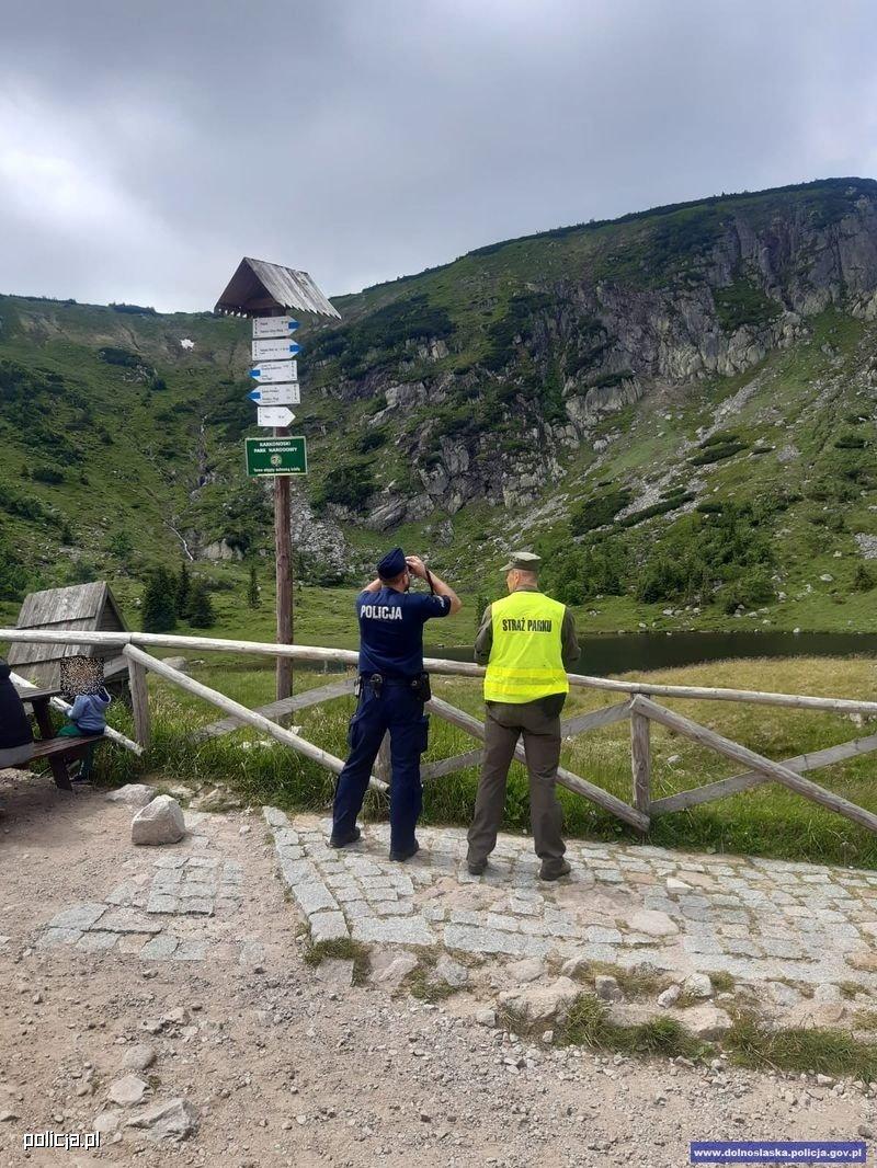 Akcja poszukiwawcza w górach
