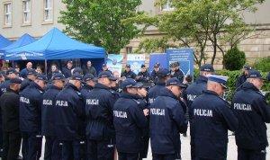odprawa służbowa funkcjonariuszy Policji