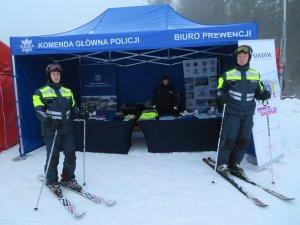 Policyjne partole narciarskie z garnizonu śląskiego