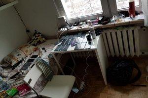 Mieszkanie, w którym zatrzymano sprawców na gorącym uczynku przestępstwa